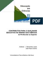 Actas-ENEC-2007-Contributos para a Qualidade Educativa no Ensino das Ciências do Pré-Escolar ao Superior