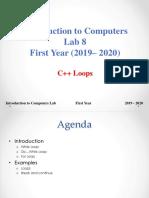Lab 8 C++ Loops