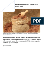 Ce trebuie să ştii despre seminţele de in şi cum să le incluzi cel mai eficient în dietă _ adevarul