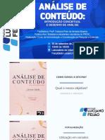 Slides Oficina - Análise de Conteúdo