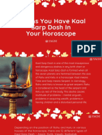 5 Signs You Have Kaal Sarp Dosh in Your Horoscope