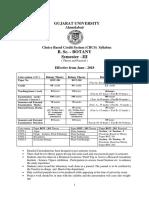 B.Sc BOTANY Semester 3-4  Syllabus June  2018