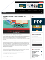 CSS Paper 2020 Syllabus History of Pakistan & India _ Success Review.pdf