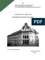 Analiza SWOT a Site-Ului Primariei Municipiului Ploiesti