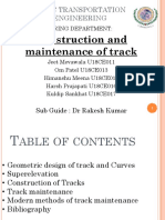 construction of tracks