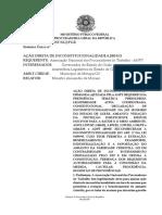 Parecer do PGR sobre a lei  de Goiás e o amianto