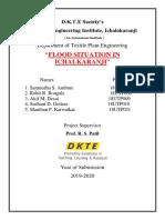FLOOD SITUATION IN ICHALKARANJI ( SY TPE 2019-20 )