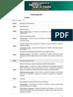 Programação do Seminário Empresarial de SST da CNI - Nov´2010