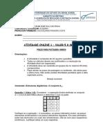 ATIVIDADE ONLINE 1 - ÁLGEBRA I -2019.1 - GABARITO