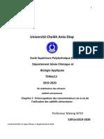 UCAD-ESP.Préoccupation des cons vis  à vis des additifs