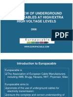 Euro Pa Cable Presentation Overview of EHV Cables