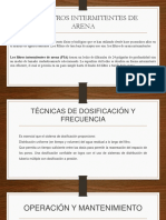 LOS FILTROS INTERMITENTES DE ARENA