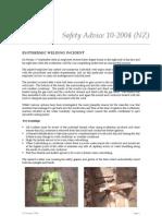 10-2004 (NZ) Exothermic Welding Incident
