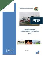 ROF REGLAMENTO DE ORGANIZACION Y FUNCIONES -628 2017 mpi