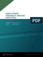 Kartavya Dubey_Participant Feedback report