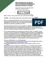 PINCIPIOS DE TORAH-Kal v'Jomer