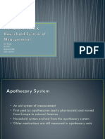 pp 4 the apothecary & household system of measurement