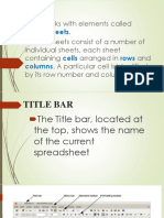 CALC spreadsheet