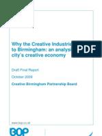 Birmingham Creative Economy research 2009
