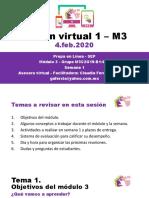 Sesión virtual 1 M3