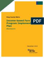 Income-Based Fare Program Implementation Plan