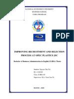 Improving recruitment and selection process at Opec Plastics JSC.docx