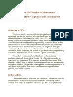 0 EL APORTE DE MATURANA A LA EDUCACIÓN