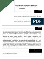 ESTUDO DO TEMPO DE OZONIZAÇÃO EFICAZ PARA A DESINFECÇÃO DO GRAO VERDE DE CAFE COM ALTO TEOR DE ÁCIDO CLOROGENICO