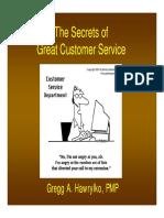 Product customer service