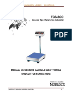 Bascula Electronica Moresco Modelo Tcs Series 300kg - Manual