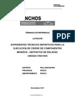 TdR Expedientes Tecnicos - Cierre de Deposito de Relaves - Vinchos.doc