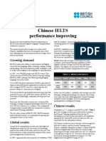 Chinese IELTS Performance Improving