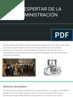 EL DESPERTAR DE LA ADMINISTRACIÓN