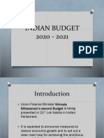 INDIAN BUDGET 2020 - 2021