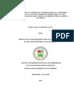 """ESTUDIO DE IMPACTO AMBIENTAL GENERADO POR LAS ACTIVIDADES TURÍSTICAS EN LA """"ZONA DE TURISMO DE MÍNIMO IMPACTO"""" DEL TERRITORIO ANCESTRAL SIONA, RESERVA DE PRODUCCIÓN FAUNÍSTICA CUYABENO."""