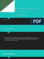 Whodas 2.0 Explicación