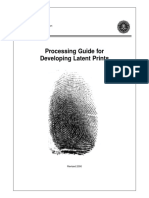Processing Guide for Developing Latent Prints. FBI.2000