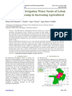 Optimizing the Irrigation Water Needs of Lebak Semendawai Swamp in Increasing Agricultural Production
