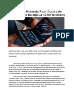 Durabilitate Motorola Razr
