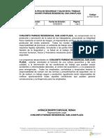 D-PSST-00-03 POLITICA DE SST