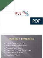 RUS Holding Info