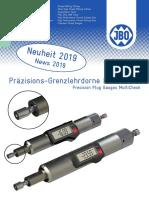 JBO - Precision plug gauges MultiCheck - 2019 D, EN