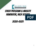 klein isd cheer handbook 2020-2021