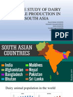 A CASE STUDY OF DAIRY CATTLE PRODUCTION IN SOUTH ASIA