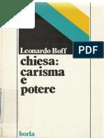 (Ricerche teologiche.) Boff, Leonardo - Chiesa_ carisma e potere_ saggio di ecclesiologia militante-Borla (1984).pdf