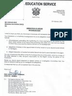Interdiction of Mr. Duncan Nsor