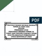 Peraturan Presiden Republik Indonesia Nomor 65 Tahun 2006 Tentang Perubahan Atas Peraturan