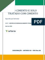 ARTERIS ES 004. Solo Cimento e Solo Tratado com Cimento - Rev.00