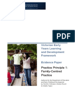 Cohrssen, Church and Tayler (2011) Evidence Paper Practice Principle 1-Family-Centred Practice