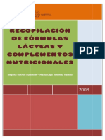FÓRMULAS LÁCTEAS Y COMPLEMENTOS NUTRICIONALES.